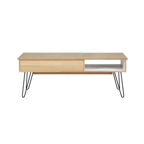 Wood And Metal Vintage Coffee Table W 115cm Casa Nova Londres