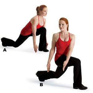 lunge reach twist  weights workout for women free weight