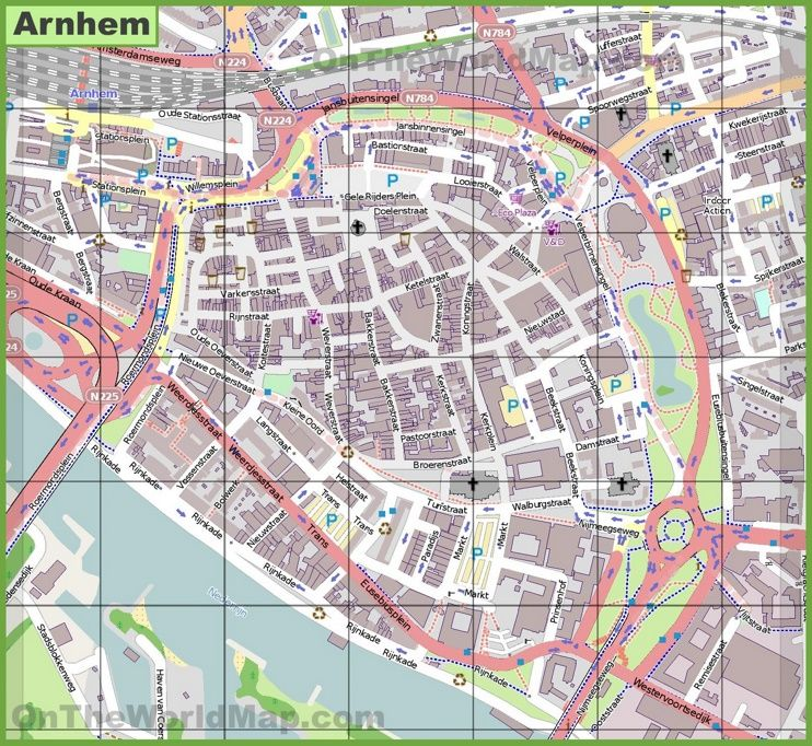 Arnhem city center map Maps Pinterest Arnhem and City
