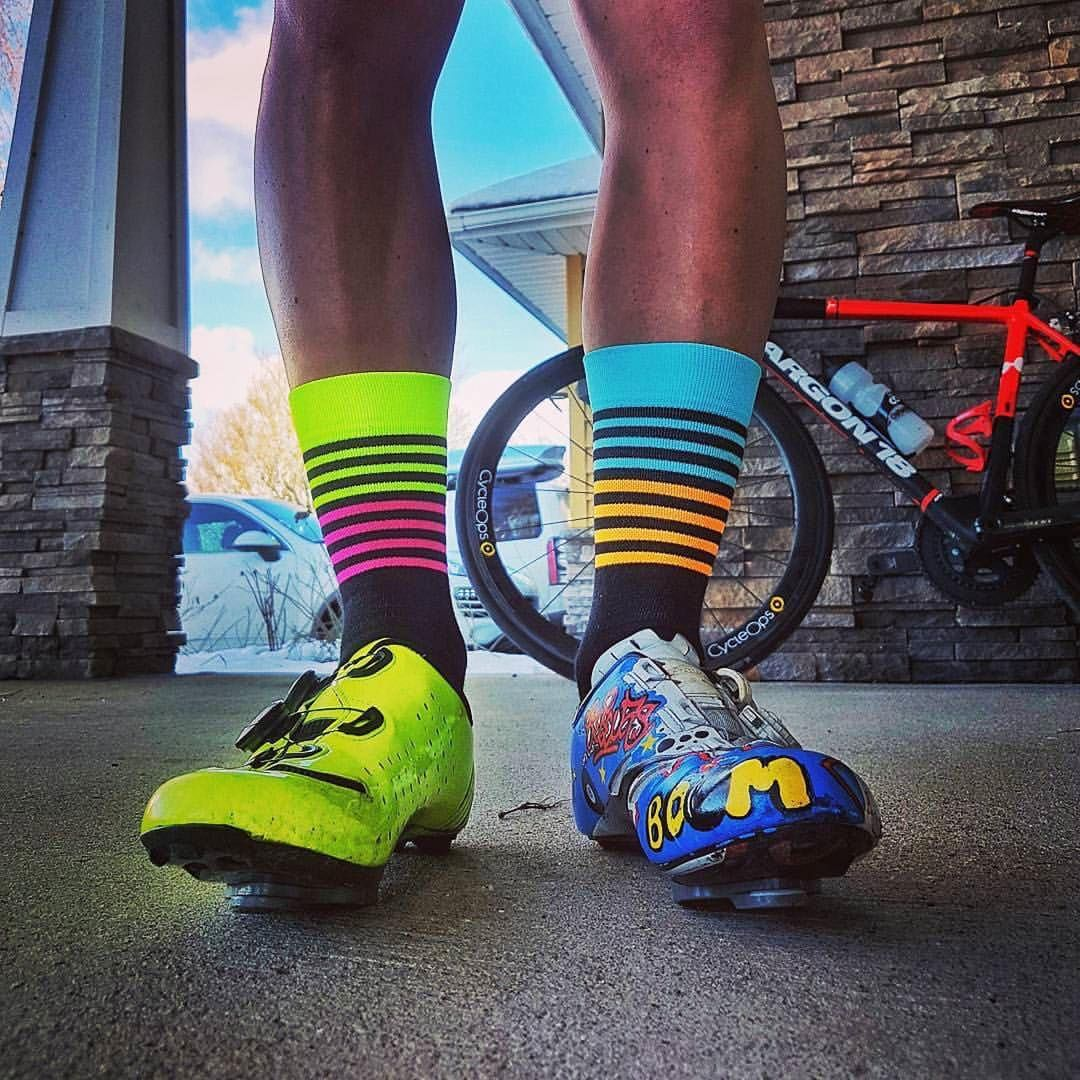 #Repost @alexcormier97 ・・・ When you don't know which pair of socks to put on, take one of each! #tickit #ticcc #higherfurtherfaster #ticsocks #omloop #sockdoping #velokicks #outsideisfree #newkitday #kitspiration #sockgamestrong