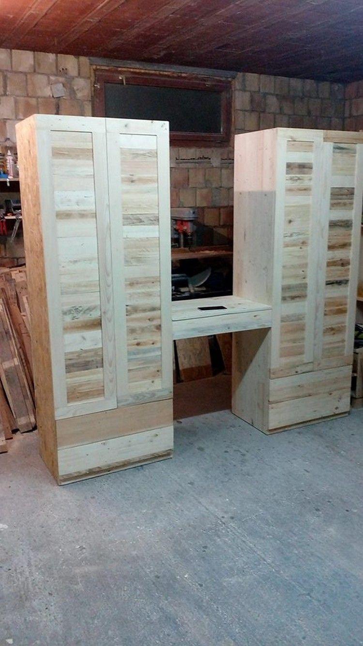 wood pallet wardrobe | pallets design | pinterest | palette, holz