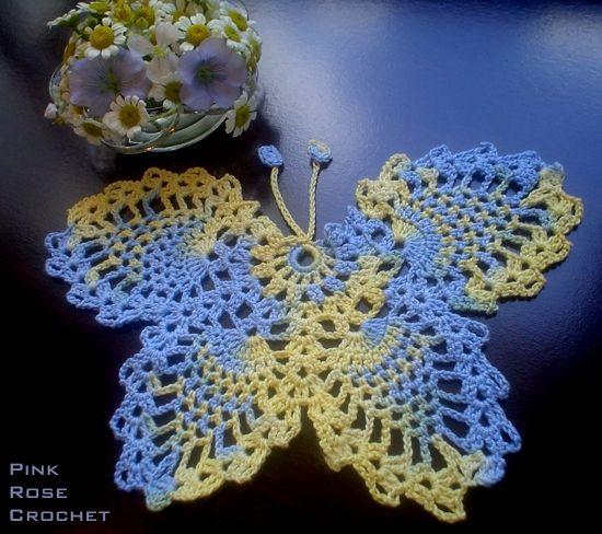 PINK ROSE CROCHET / | Crochet | Pinterest | Schmetterling häkeln ...