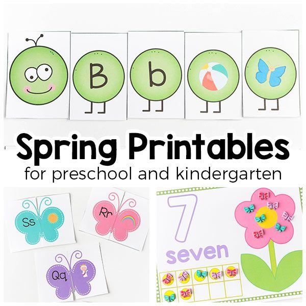 Spring Printable Activities For Kids Theme Printables Preschool And Kindergarten