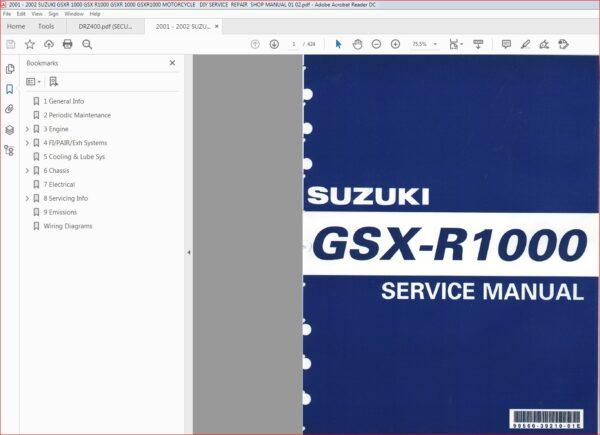 2001 2002 Suzuki Gsxr 1000 Gsx R1000 Gsxr 1000 Gsxr1000 Motorcycle Repair Shop Manual Download In 2020 Motorcycle Repair Suzuki Gsxr Gsx