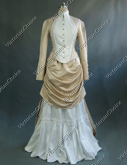 Victorian Edwardian Vintage Wedding Dress Bustle Bridal Gown ...