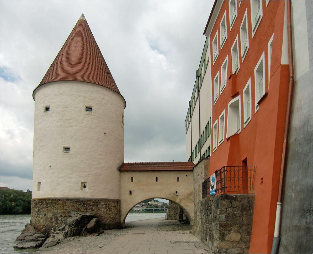 Schaiblingsturm Passau Germany by Siegfried Duerschlag
