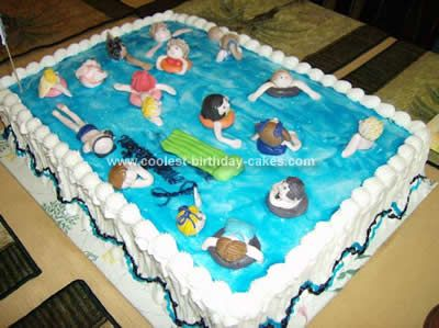 Swimming Pool Cake Ideas swimming pool cake love the detail on this cake Coolest Swimming Pool Cake