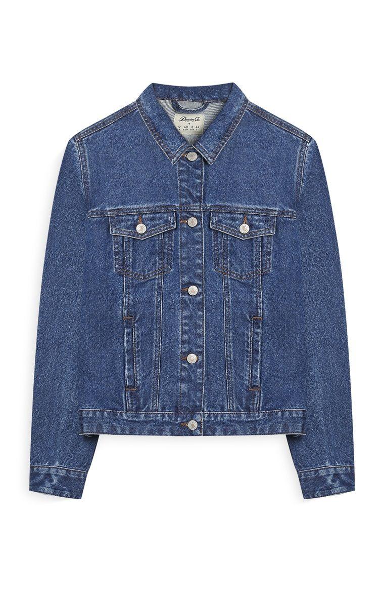 aa9d47319 Primark - Mid Blue Denim Jacket | Shopping Time | Blue denim, Denim ...