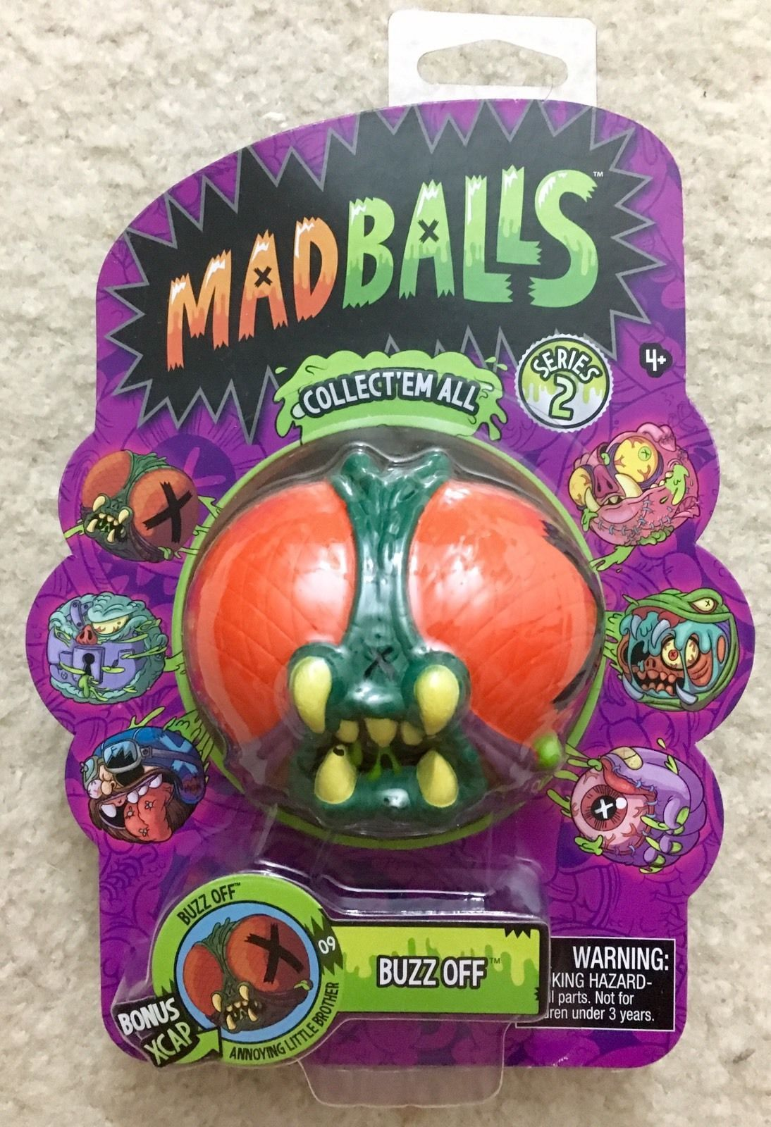 Buzz off madballs american greetings just play foam ball series 2 buzz off madballs american greetings just play foam ball series 2 mad balls new m4hsunfo