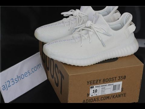 9b895fb07b00b Comparision! Yeezy boost 350 v2 Triple White Unboxing   Review from ...