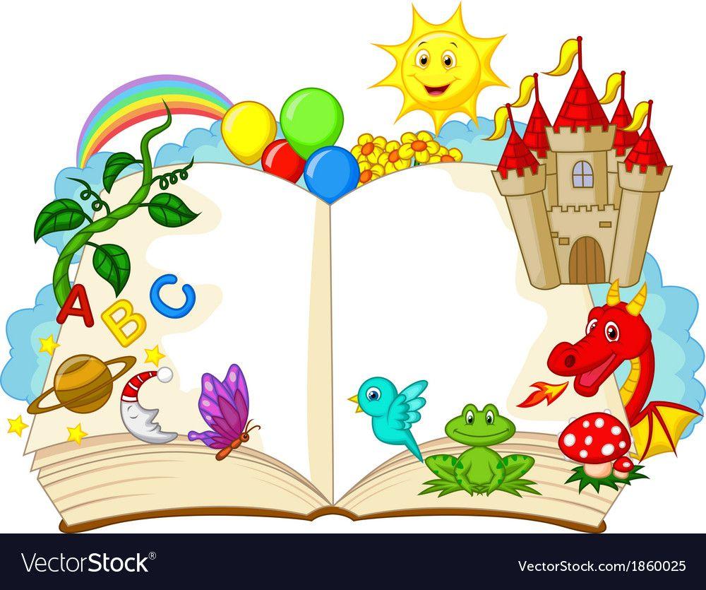 Fantasy book cartoon vector image on vectorstock fantasy