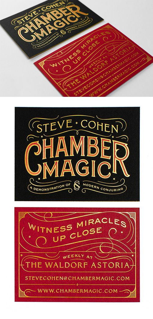 Beautiful Typography On A Gold Foil Stamped Business Card For A ...