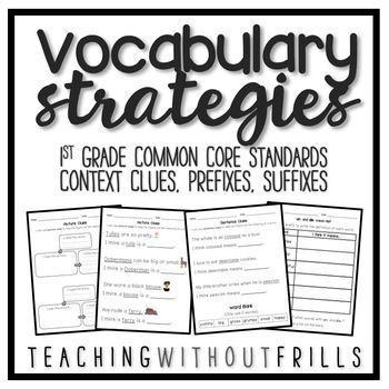|1st Grade Common Core| Vocabulary Activities- Context