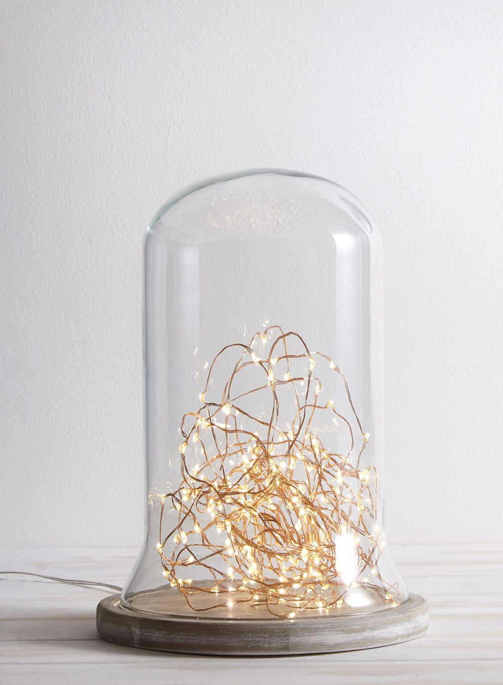 Photo 3 Of Holly Willoughby Wooden Cloche Table Lamp
