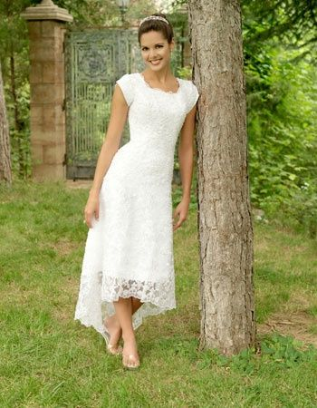 Cute Casual Wedding Dress Wedding Dresses High Low Knee Length