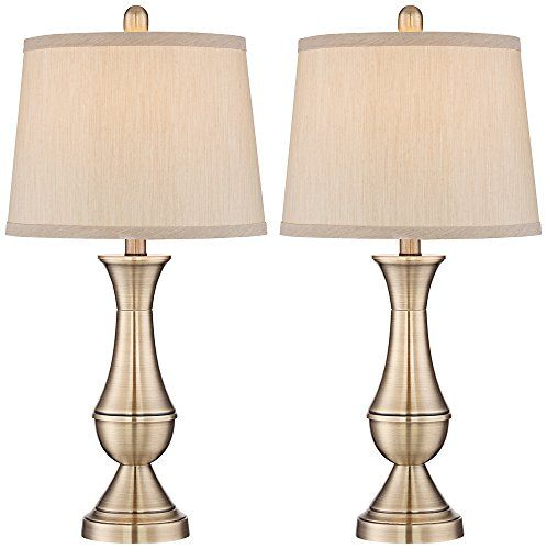 Antique Brass Metal Table Lamp Set Of 2 In A Classic Profile That Will Table Lamp Sets Metal Table Lamps Brass Table Lamps