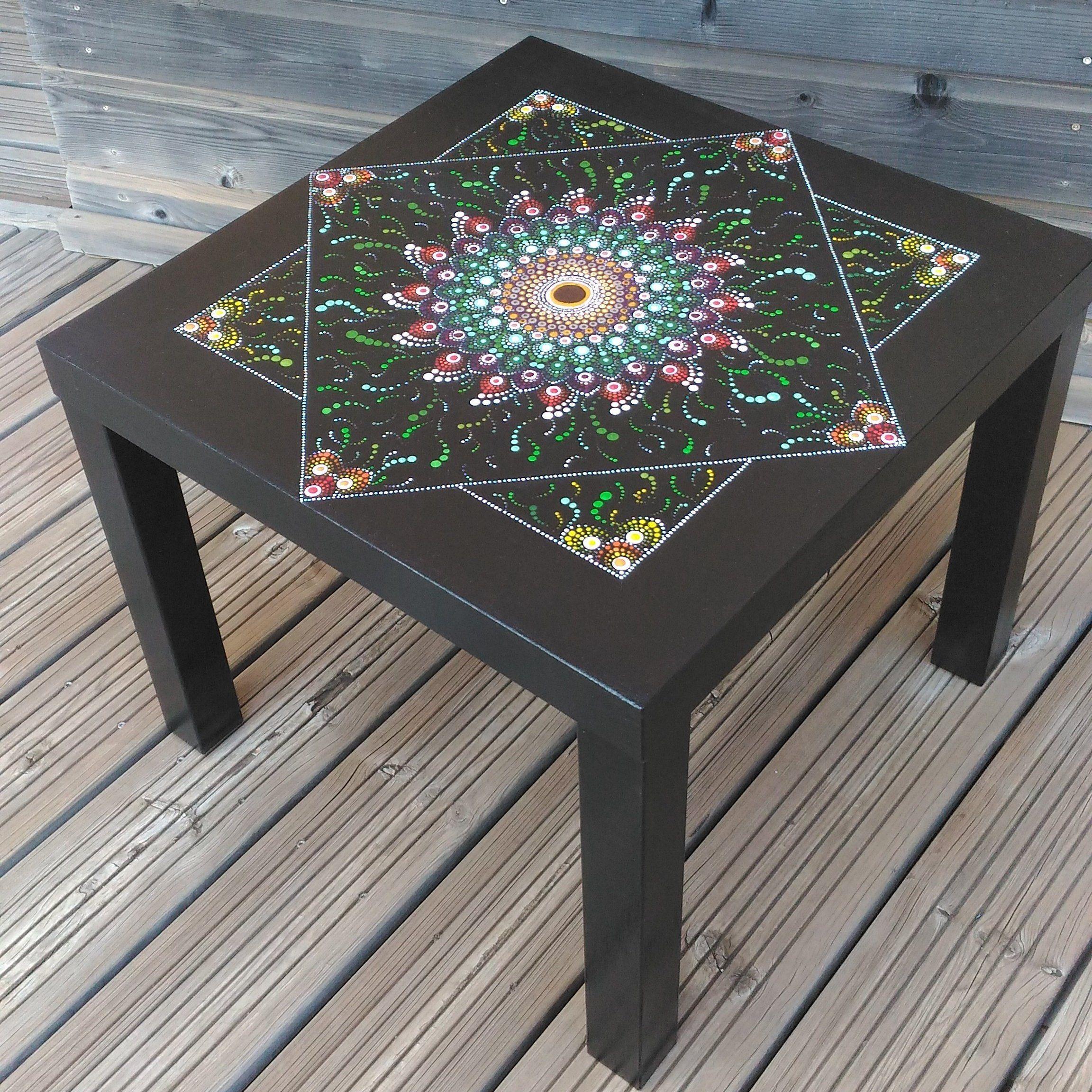 Table Basse Mandala En Pointillisme Creation Artisanale Piece Unique Diy Furniture Decor Home Decor