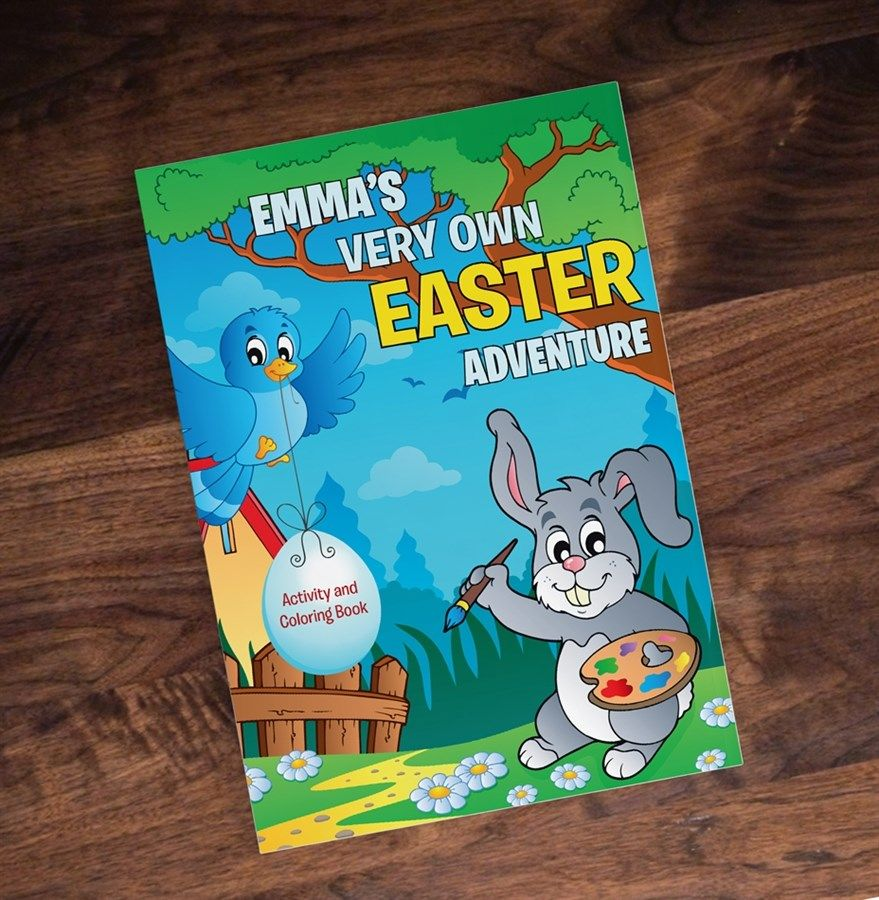 Personalized Easter Activity Coloring Book