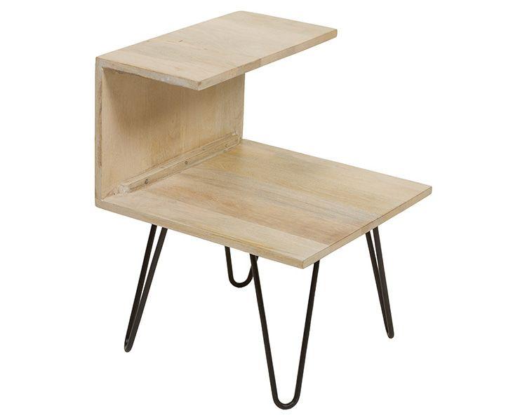 Mesita Auxiliar en Madera de Mango 40 x 40 x 45 cm Mesas vintage - mesitas de madera