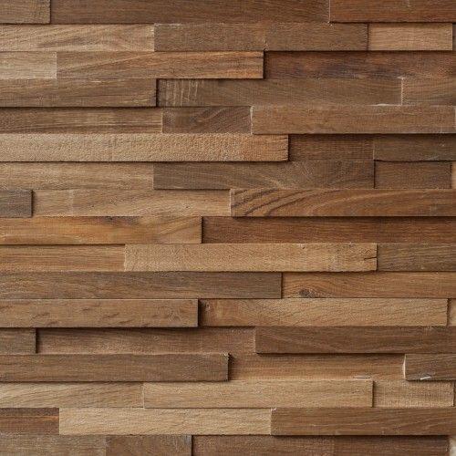 Reclaimed Engineered Oak Strip Cladding Oiled Acabamento De