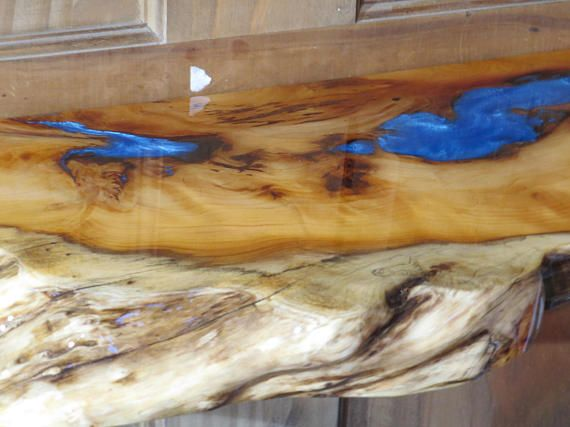 Floating Shelves Live Edge Yew Shelf Shelf Epoxy Resin