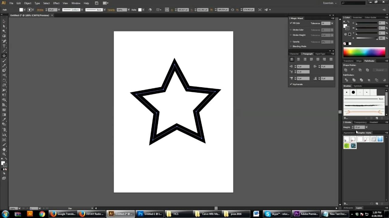 Gradient on a Stroke in Illustrator CS6 Tutorial