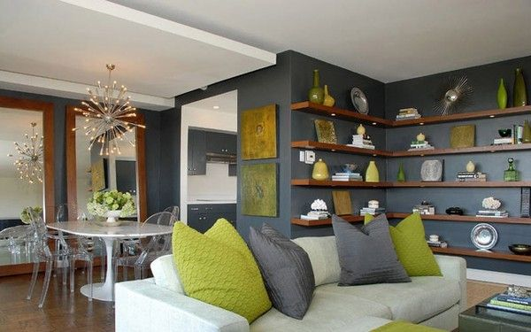Living Room Grey Love The Chartreuse Accents This Will Be My Next Color Inspiration