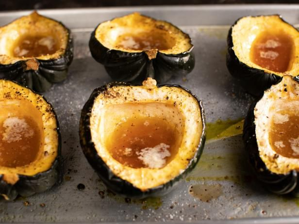 Maple Roasted Acorn Squash Recipe With Images Food Network