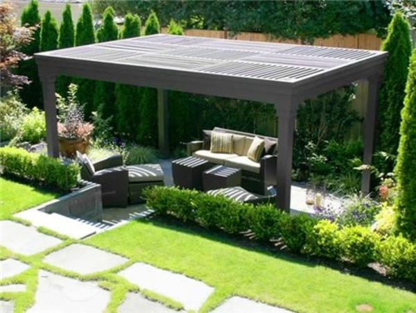garten designideen pergola selber bauen garten ideen pinterest paisagismo jardim. Black Bedroom Furniture Sets. Home Design Ideas