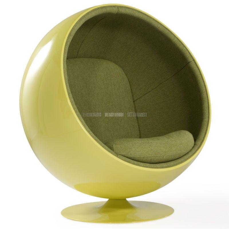 Ball chair geinspireerd door eero aarnio replica design