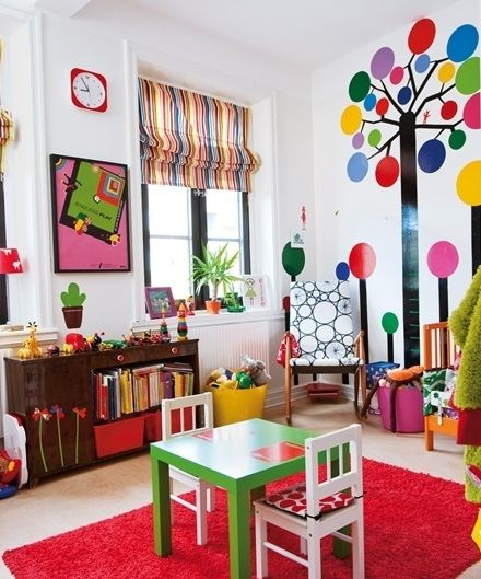 Kids Room Color Schemes: SOLD! I Love All The Colors And Designs In This Playroom