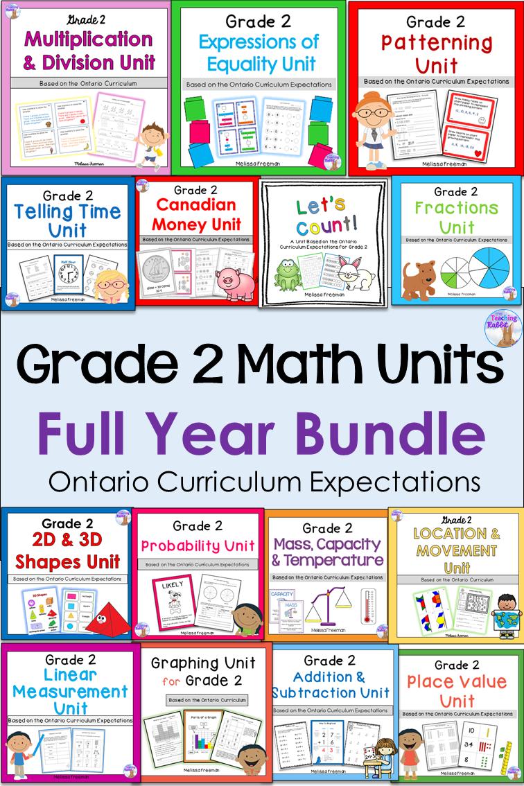 Grade 2 Math Units Bundle   Ontario curriculum [ 1134 x 756 Pixel ]