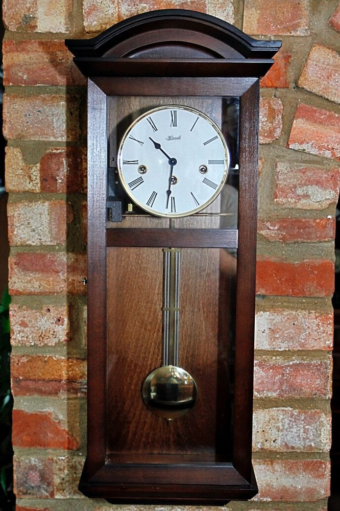 Vintage German Hermle 8 Day Wall Clock With Westminster Chimes Manual Franzhermle Clock Wall Clock Vintage German