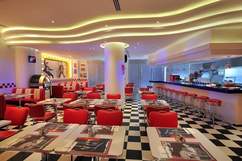 Exterior: Rock N Roll Diner At The Olympic In Cyprus