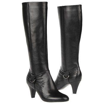 Wide Calf Dress Boot (Black)   Boots