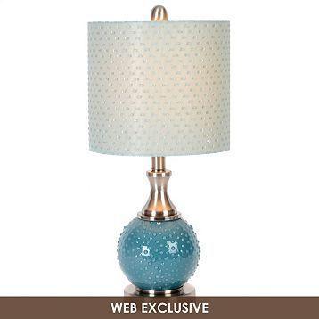 Blue Hobnail Table Lamp   Kirkland's