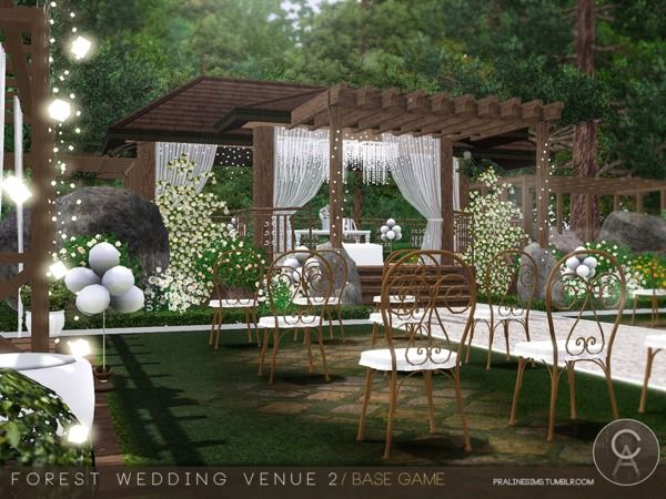 Pralinesims' Forest Wedding Venue 2 | Sims, Sims 4 houses ...