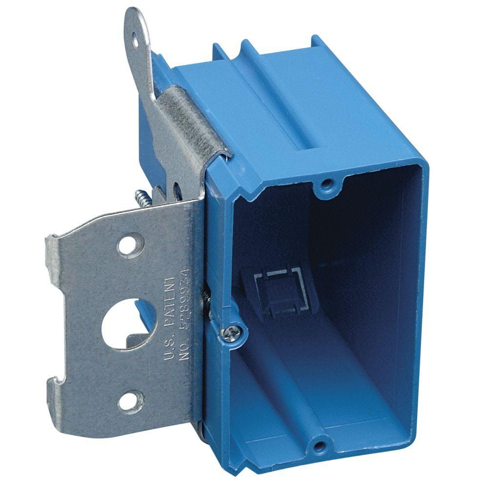 Carlon 1 Gang 21 Cu In New Work Non Metallic Electrical Wall Box With Adjustable Bracket B121adj 40r In 2020 Wall Boxes Home Depot Pvc Wall