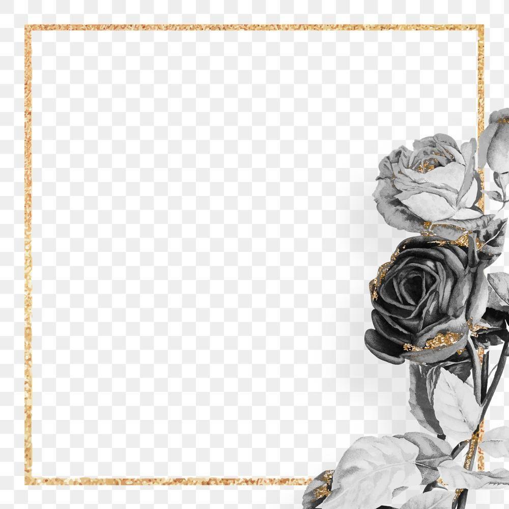 Gold Frame With Black Roses Design Element Free Image By Rawpixel Com Ningzk V Design Element Gold Frame Free Illustrations