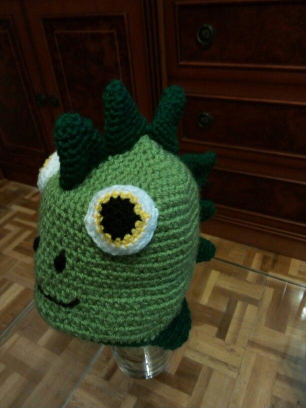 Gorro de dinosaurio basado en FREE Pattern - Dinosaur earflap hat ...