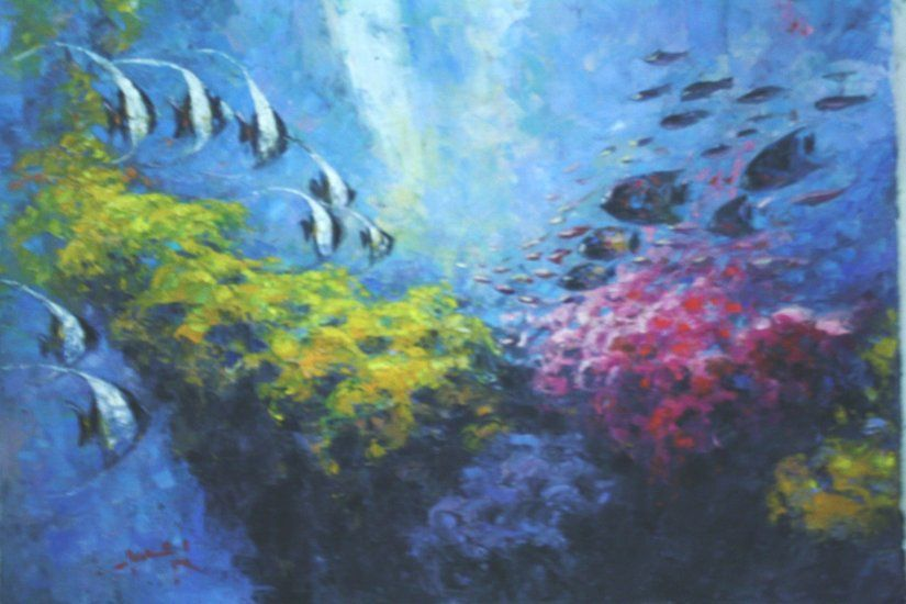 Artwork Lukisan Agus Pemandangan Bawah Laut Artworks