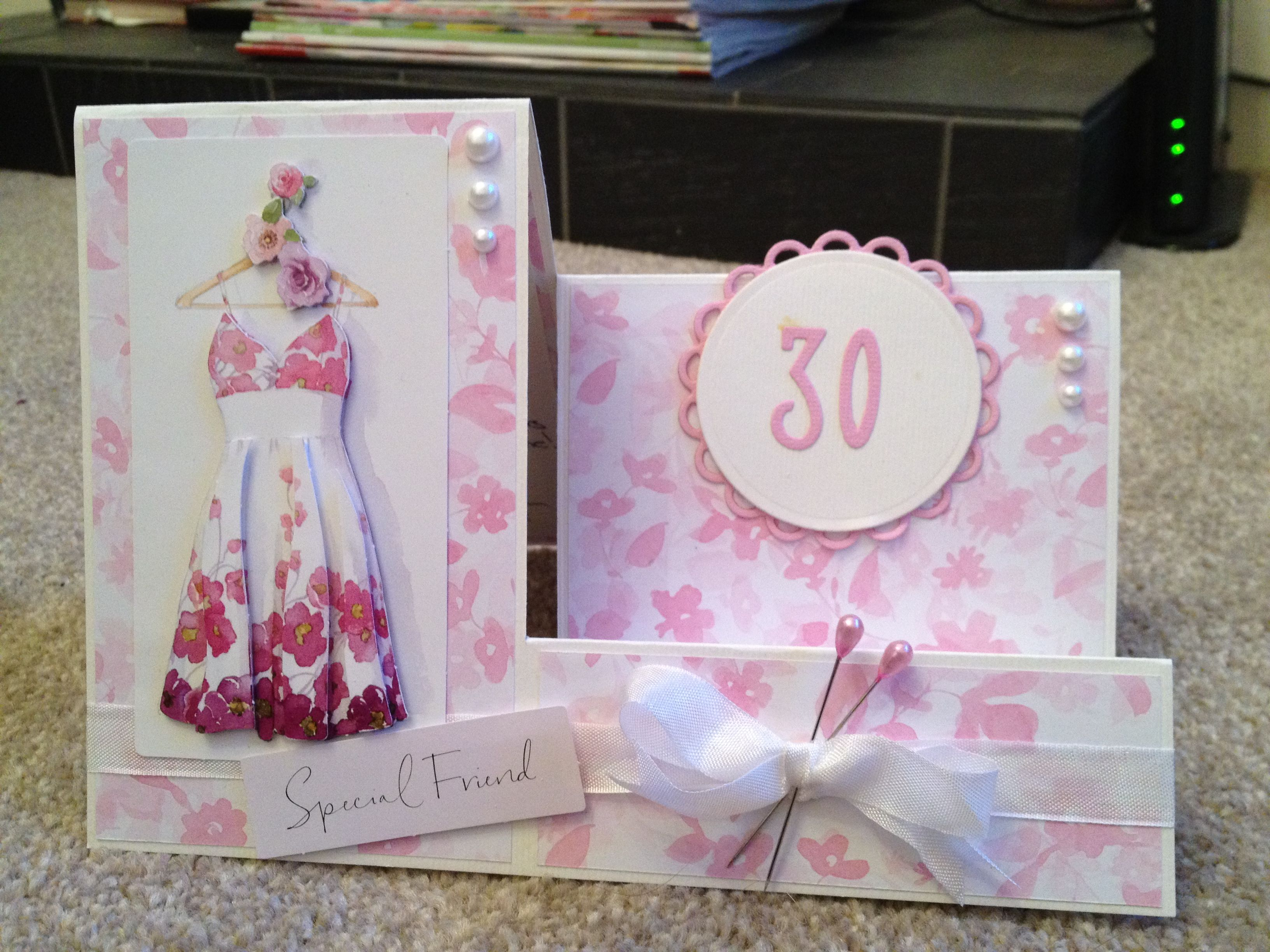 Card Making Ideas 30th Birthday Part - 31: 30th Birthday Card Using Papermania, Lucy Cromwell Decoupage, Sentiment And  Papers