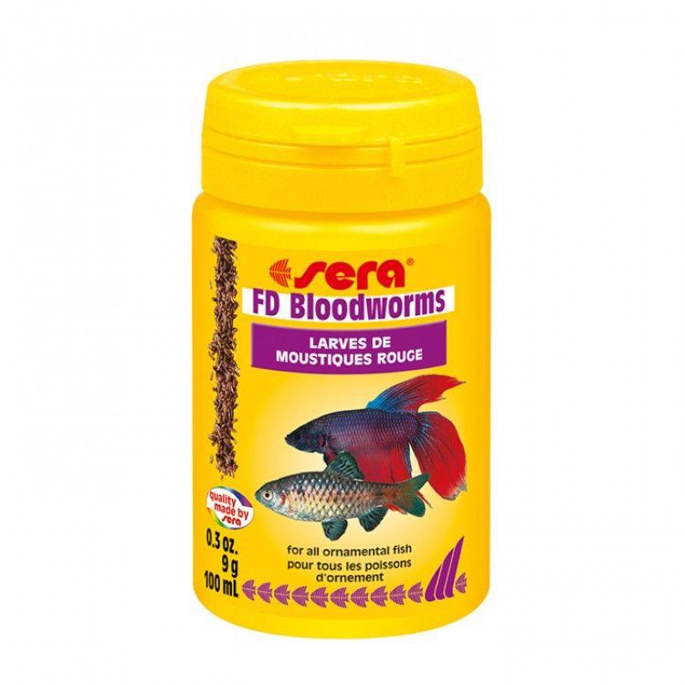 Sera Freeze Dry Bloodworms Fish Food 9g Fish Recipes Freeze Drying Food