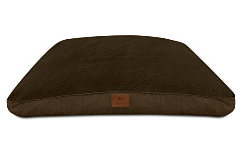 American Kennel Club AKC9112BROWN Deluxe XLarge Memory Foam Popcorn Gusset Dog Pet Bed 40 x 27 -- For more information, visit image link.