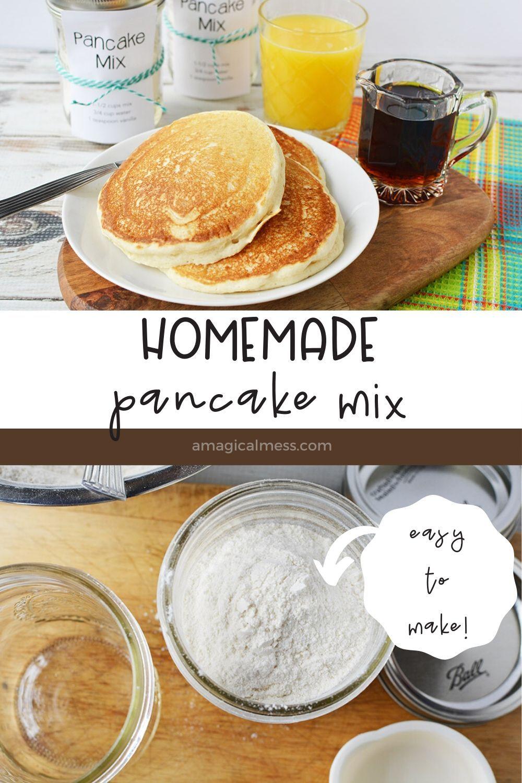 How To Make Basic Pancake Mix Recipe Homemade Pancake Mix Basic Pancake Mix Recipe Basic Pancake Mix