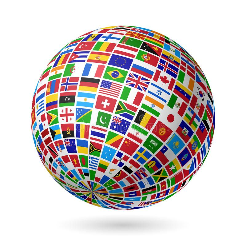 Image result for world flag globe