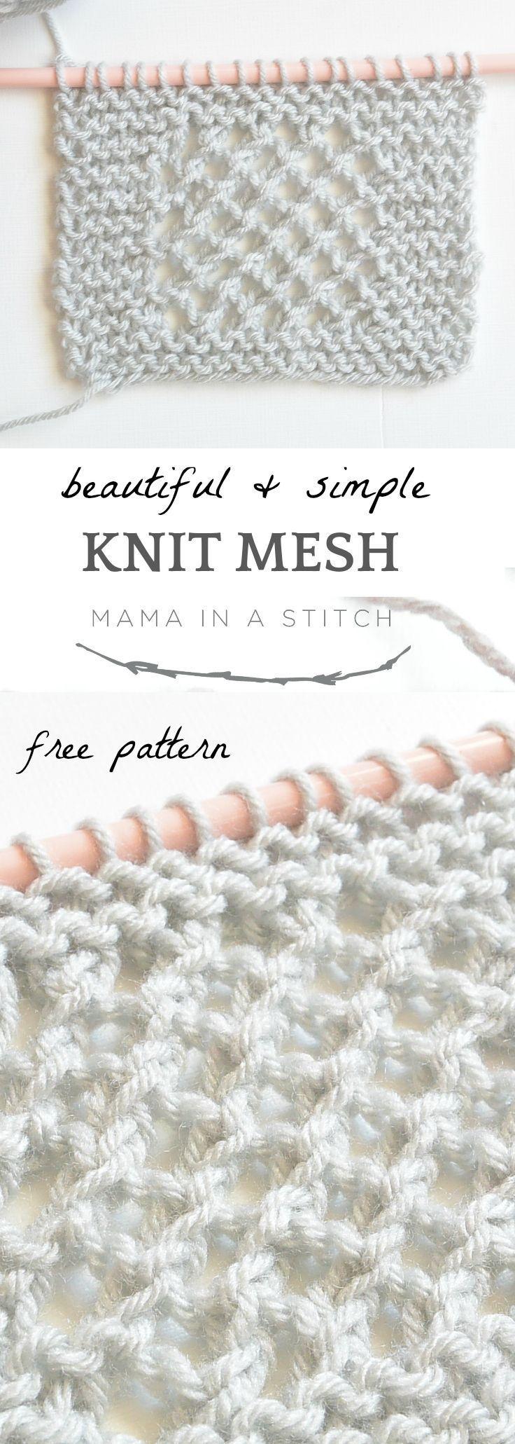 Knit Mesh Square Pattern | Pinterest | Stricken und häkeln, Diy ...