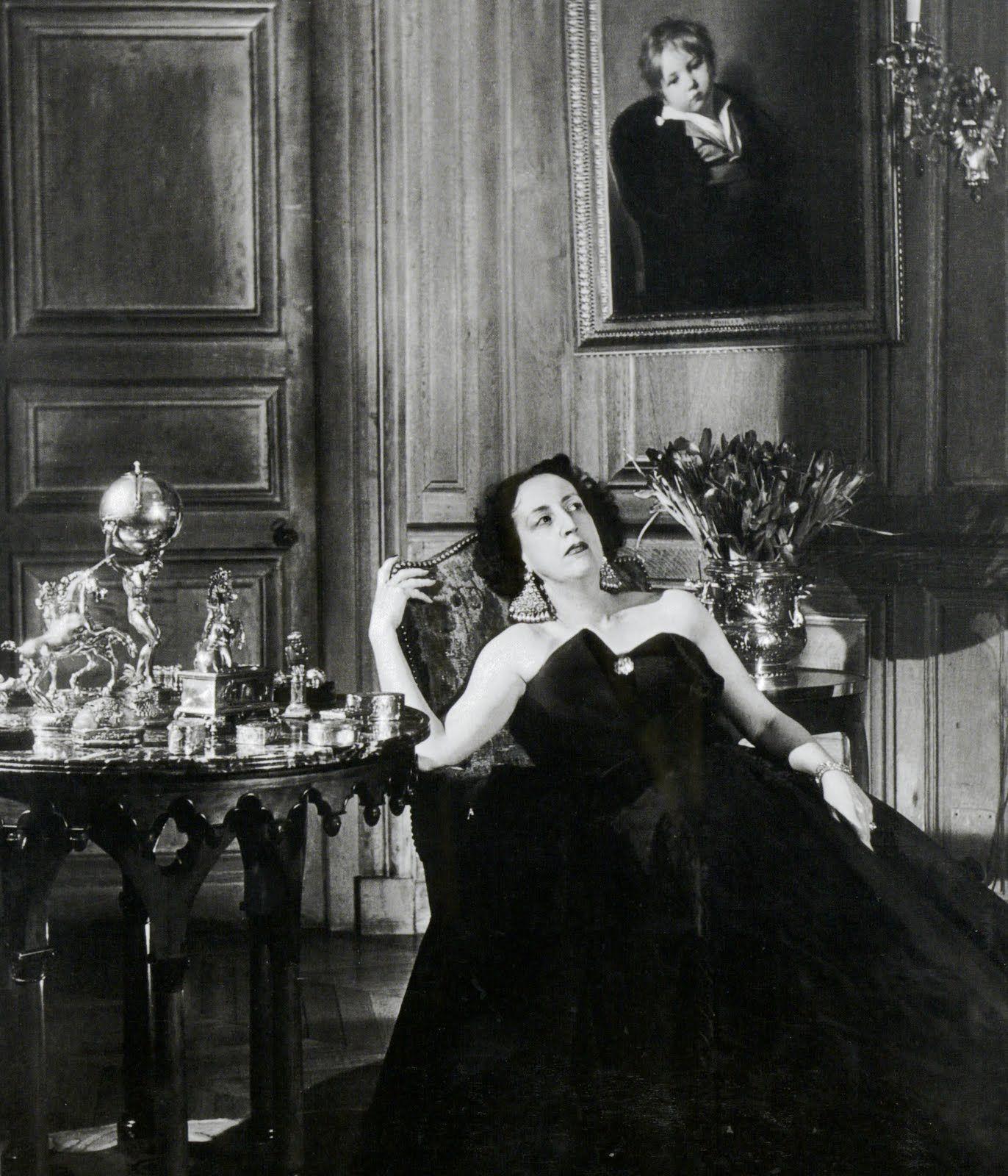Marie Laure De Noailles Jacques Fath Portrait The Marquis De Sade