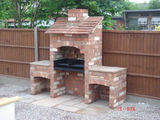 How to build a brick grill image search results projects for Backyard built in bbq ideas