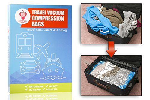 Embrace Travel Accessories Reusable Vacuum Storage Bags Easy Packing Bags For Travel Organize 3X Space Saver Bags Waterproof Rolling Compression Travel Bags ...  sc 1 st  Pinterest & Embrace Travel Accessories Reusable Vacuum Storage Bags Easy Packing ...